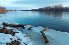 De Rivierdooi van de Mississippi in Zuiden St Paul Stock Foto's