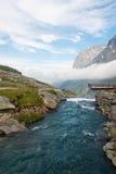 De rivieren van het landschap van Noorwegen Royalty-vrije Stock Foto