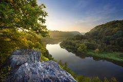 De rivierheuvel Royalty-vrije Stock Foto