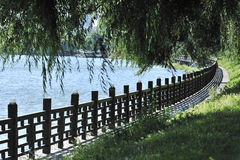 De rivierkant van de omheining Stock Afbeeldingen