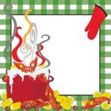De rivierkreeften koken Uitnodiging Royalty-vrije Stock Foto's