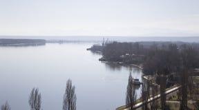 De rivierlandschap van Donau Royalty-vrije Stock Afbeeldingen