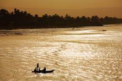 De rivierlandschap van Nijl, Egypte Royalty-vrije Stock Fotografie