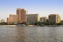 De rivierlandschap van Nijl in Kaïro, Egypte Royalty-vrije Stock Afbeeldingen