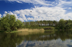 De rivierlandschap van Ros Royalty-vrije Stock Foto's