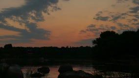 De riviermeer van de ochtendzon stock footage