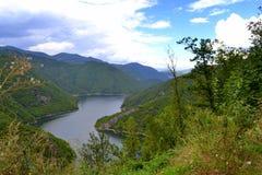 De riviermening van de Balkan Stock Afbeeldingen
