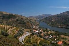 De riviermening van Douro stock afbeeldingen