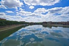 De riviermening van Garrone Stock Afbeelding