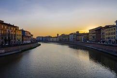 De riviermening van Pisa Royalty-vrije Stock Fotografie