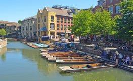 De riviernok in Cambridge Stock Afbeeldingen