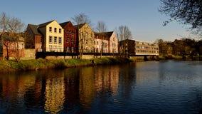 De rivieroever van Durham Stock Fotografie