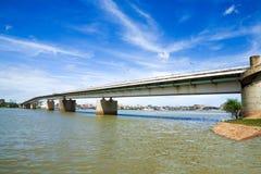 De rivieroever van Kambodja brigte Royalty-vrije Stock Afbeeldingen