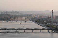 De Rivieroever van Noord-Korea royalty-vrije stock afbeeldingen