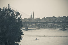 De rivierpanorama van Vistula stock foto