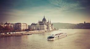 De rivierparlament van Boedapest Royalty-vrije Stock Foto