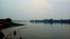 De riviersangama van Bhimaamirja royalty-vrije stock foto's