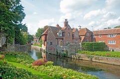 De rivierscène van Canterbury stock foto
