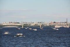 De rivierscène van Petersburg Stock Fotografie