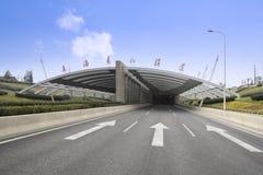 De riviertunnel van Shanghai yangtze stock afbeeldingen