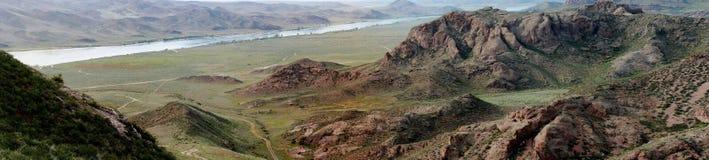 De riviervallei van Ili, Kazachstan Royalty-vrije Stock Foto