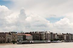 De Riviervloed 2013, Boedapest, Hongarije van Donau Royalty-vrije Stock Afbeelding