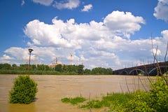 De riviervloed van Vistula stock foto