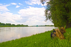 De riviervloed van Vistula Stock Afbeeldingen