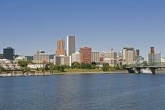 De riviervoorzijde van Portland Oregon royalty-vrije stock fotografie