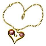 De Robijn van het hart royalty-vrije stock afbeelding