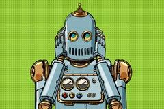 De robot behandelde zijn oren stock illustratie