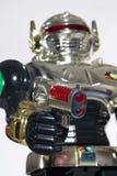 De robot die van het stuk speelgoed u met een kanon beoogt royalty-vrije stock afbeeldingen