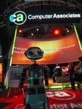 De robot ontmoet attandees van Computer Associates-de conferentie van bedrijfcaworld 2004 Stock Fotografie