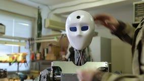 De robot rebootte en zag de wereld stock videobeelden