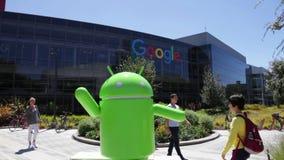 De robot van Google Android stock footage