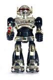 De robot van het stuk speelgoed met een kanon royalty-vrije stock afbeeldingen
