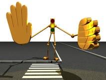 De robot van het verkeerslicht vector illustratie
