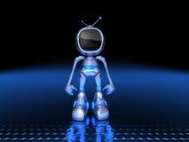 De robot van TV royalty-vrije illustratie