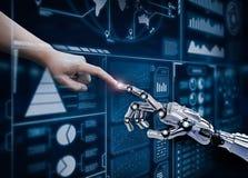 De robot verbindt mens Royalty-vrije Stock Afbeelding