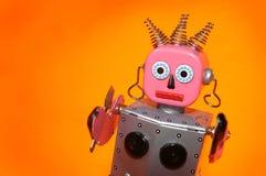 De robotmeisje van het stuk speelgoed Stock Afbeeldingen