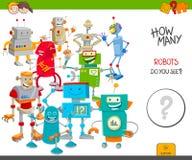 De robots onderwijsspel van het tellingsbeeldverhaal royalty-vrije illustratie