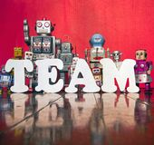 De robots van het teamwerk Royalty-vrije Stock Foto's