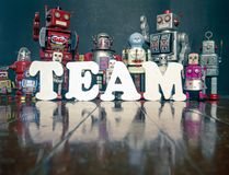 De robots van het teamwerk Royalty-vrije Stock Fotografie