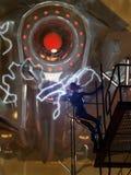 De robotstrijd van de science fiction Stock Foto