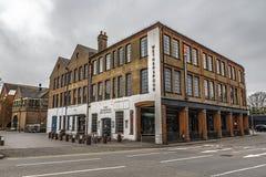 De Rodboro byggnaderna av Guildford royaltyfri fotografi