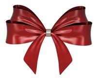 De rode 3d lintboog geeft terug Royalty-vrije Stock Afbeelding