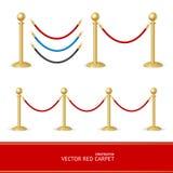 De rode Aannemer van de Tapijt Gouden Barrière Vector vector illustratie