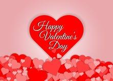 De rode abstracte achtergrond van de hartvorm Royalty-vrije Stock Afbeelding