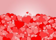 De rode abstracte achtergrond van de hartvorm Stock Fotografie