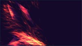 De rode abstracte digitale high-tech magische kosmische achtergrond van de energie elektrische heldere gloeiende lichte textuur v stock illustratie